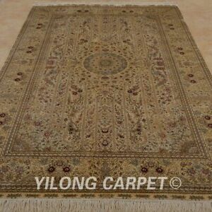 Yilong 5'x8' HandKnotted Silk Area Rugs Traditional Indoor Oriental Carpets 1024