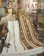Afghans Vintage Crochet & Knitting Instruction Patterns 15 Designs 1979 ASN #11
