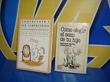 Libro COMO ELEGIR EL SEXO DE TU HIJO y COMPRENDER Y SER COMPRENDIDO