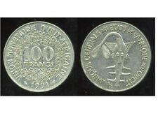 ETATS DE L'AFRIQUE DE L'OUEST  100 francs  1991  (  bis )