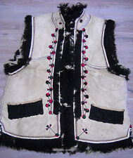 Antique Hutsul Sheepskin Vest KEPTAR 19thC Bereziv size~M Good condition