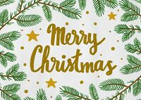 A1 Merry Christmas Poster Art Print 60 x 90cm 180gsm -Gold Star Cool Gift #15435