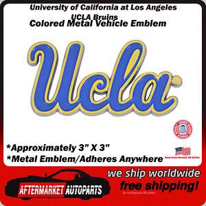 UCLA Bruins California Colored Metal Car Auto Emblem Decal Top Quality