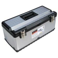 """Tool box stainless steel Large 23""""  59cm diy STORAGE CASE work hobby carry site"""