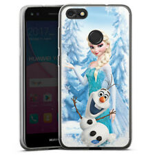 Huawei Y6 Pro (2017) Silikon Hülle Case - Frozen Elsa & Olaf