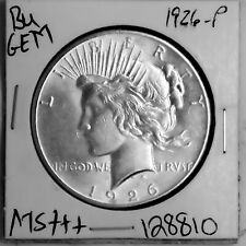 1926 GEM Peace Silver Dollar BU MS+++ UNC Coin Free Shipping #128810
