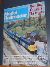 MODEL RAILROADER MAGAZINE MAY 1982 CANADA'S VIA TRAINS HARTFORD WORKSHOP TOUR