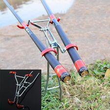 Foldable Adjustable Double Pole Bracket Practical Fishing Rod Holder Fish Tool