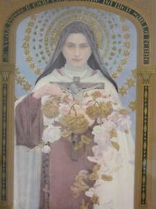 Saint Therese Lisieux Jesus lithograph Edgar Maxence symbolist Art Deco 1927