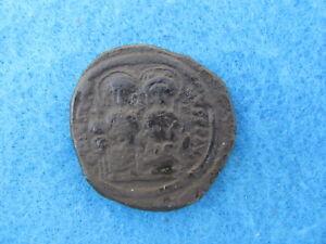 Justin II and Sophia AE 30 mm nice RARE BYZANTINE coin!!!
