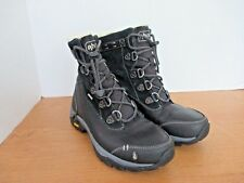 AHNU~Black WATERPROOF TWAIN HARTE Thinsulate Insulated BOOTS~Women's 6~NWOT