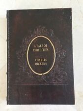 Decorative Charles Dickens Brown Leather Gold Tooled Aged Faux Book Box