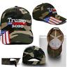 President Donald Trump 2020 Flag Camouflage Cap Make America Great Again Hat-BA