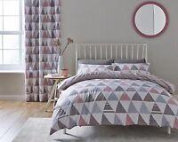 Catherine Lansfield Scandi Geo Pink Modern Quilt / Duvet Cover Bedding
