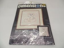Dimensions Teddy Bear Patchwork Pillow 4112 -- NEW