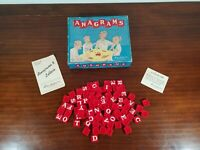 Anagrams On Plastic Tiles Letters By Parker Brothers W Box Instructions Vintage