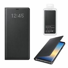 GENUINE SAMSUNG GALAXY NOTE 8 LED VIEW COVER LEATHER FLIP CASE WALLET BLACK
