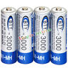 4x AA Rechargeable Battery 3000mAh 1.2V BTY Bulk Nickel Hydride NI-MH