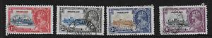 Swaziland 1935 KGV Silver Jubilee set SG 21-4