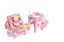 Le Toy Van ME044 - Puppenhaus Möbel - Daisylane Nursery Set Baby Kinderwagen