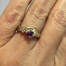 10k Yellow Gold Trillion 3/4 Ct Tanzanite Diamond Pave Cocktail Wedding Ring 6