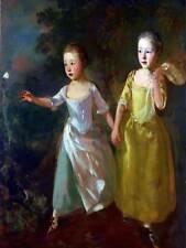 Ritratto Gainsborough ARTISTI figlie Chase Farfalla poster stampa bb12863b