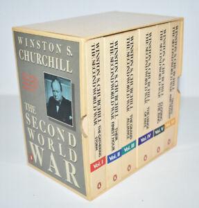 Winston Churchill Second World War 6 Volumes Paperback Books Set Penguin 1985