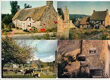 BRETAGNE lot 4 cartes postales CHAUMIERES 1