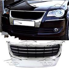 FRONT BLACK-CHROME GRILL FOR VW TOURAN II GP 06-09 SPORT NO EMBLEM SPOILER