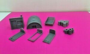 MODEL RAILWAY SCENERY 'ACCESSORIES SET X 11 '00' GAUGE 3D PRINTED START £12.50