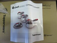 Ensemble 3 Casseroles + Couvercle + Manche Chef Series Tupperware