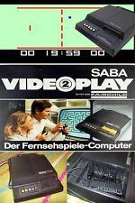 Saba Fairchild equipo incl. 2 Controller y juegos paquete de accesorios Saba 1977 culto