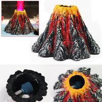 Volcano Air Bubble Stone Rockery Pump Aquarium Fish Tank Ornament Decor3r