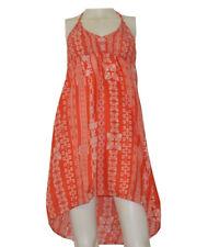 Lagaci Women's Red/Orange Printed Beach Cover Up Summer Dress ($50)