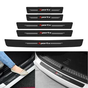 Carbon Pattern PU Car Door Sill Plate Trunk Bumper Guard Protector Sticker Cover