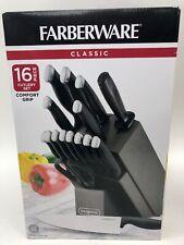Farberware Sixteen Piece Black Comfort Grip Knife Set 5200296