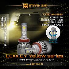 80W 7800LM Flip COB LED Kit 3000K Yellow Light Bulbs Fog Lights - H11 H16 (2)