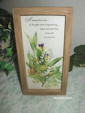 Hallmark Nature's Sketchbook Marjolein Bastin framed Plaque A Beautiful Day.