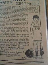 """PATRON ORIGINAL POUR LA POUPEE """" BLEUETTE LINGERIE ELEGANTE CHEMISE JUIN 1929"""