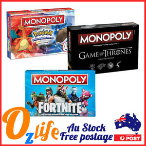 Monopoly Board Game Family Game Battle Your Opponents Fortnite AU Stock