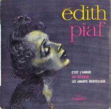 EDITH PIAF C'est l'amour - 45T vinyle label Columbia ESRF 12889 M - VG++ Mind