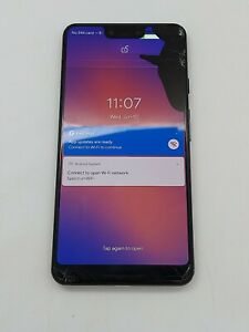 Google Pixel 3 XL - 64GB - Just Black (Unknown Carrier) *Check IMEI* Bad LCD