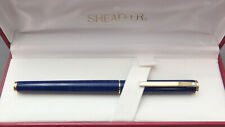 Sheaffer Fashion Fountain Pen in Blue Ring Finish with Gold Trim Fountain