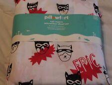 Pillowfort Cat Capers FULL Sheet Set - microfiber new