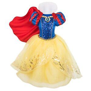 Disney Authentic Snow White Princess Deluxe Dress Costume Girls Size 9/10