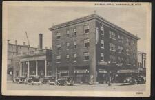 Postcard UHRICHSVILLE Ohio/OH  Buckeye Hotel & Business Storefronts 1920's