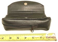 Comoy'S Of London Dark Brown 2 Pocket Pipe & Tobacco Leather Pouch Case
