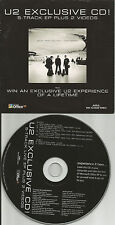 U2 7Trx w/ 3 LIVE TRX & 2 VIDEO RAMONES trk Europe NEWSPAPER PROMO CD USA Seller