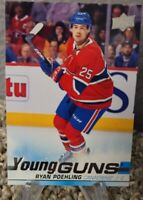 2019-20 UPPER DECK RYAN POEHLING YOUNG GUNS ROOKIE CARD MONTREAL CANADIENS NHL