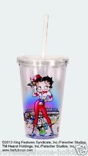 16195 Betty Boop Roller Skate Waitress Diner Insulated travel Cup w/straw tv